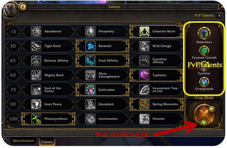 Activating World PvP in World of Warcraft