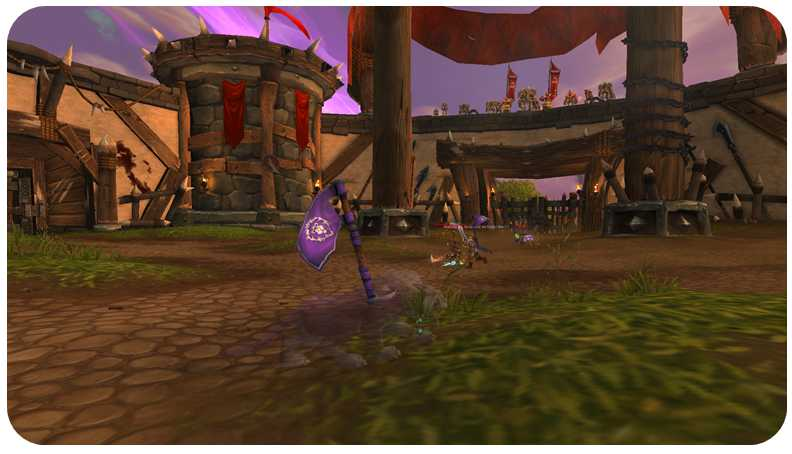 Player in arena PvP in World of Warcraft