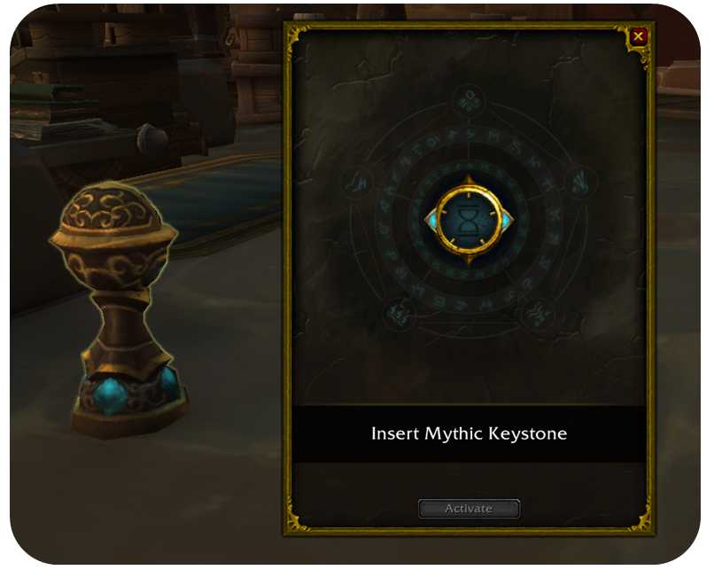 You can use your keystone by placing it in the Font of Power