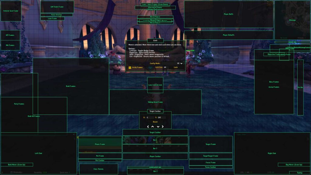 ElvUI anchors enabled