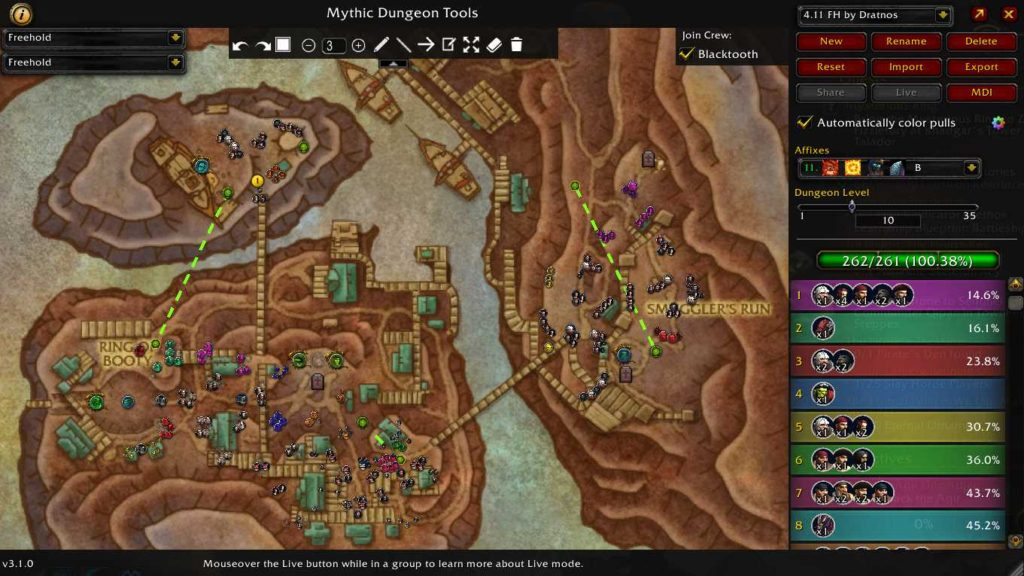 Mythic Dungeon Tools is a helpful addon for tracking the groups of enemies and path you want to take