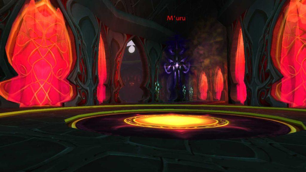 Screenshot of M'uru in Sunwell Plateau raid