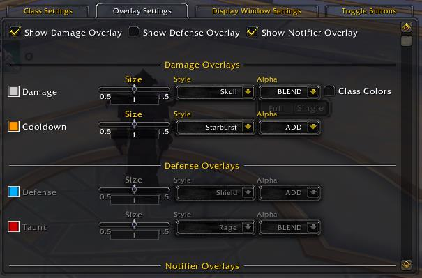 Screenshot of Conflict Rotation Optimizer (ConRo) WoW addon settings
