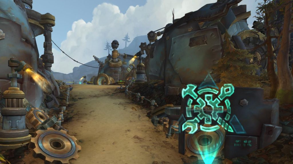 Screenshot of Rustbolt, the capital of Mechagon and home to the Mechagnomes