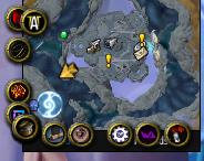 Screenshot of cluttered minimap in World of Warcraft