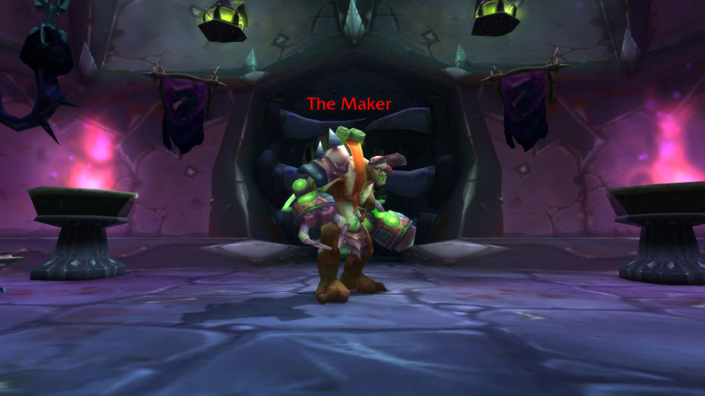 Screenshot of The Maker in the Blood Furnace dungeon