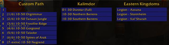 Screenshot of Azeroth Auto Pilot addon in World of Warcraft