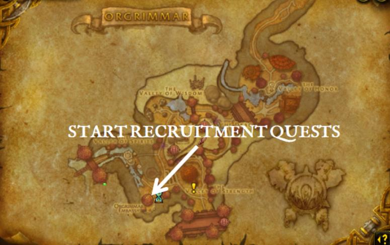 Screenshot of orgrimmar embassy on map.