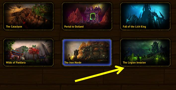 Chromie Time window in in World of Warcraft.