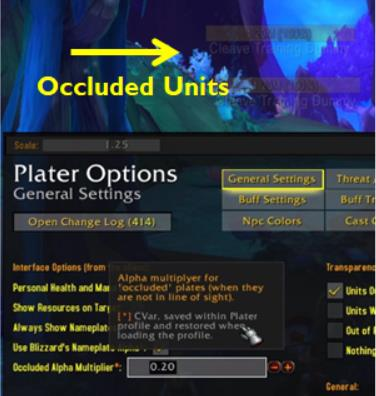 Plater occluded units settings WoW