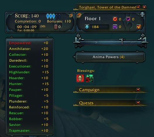TorghastTourGuide addon for World of Warcraft