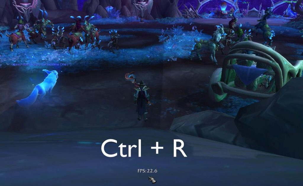 How to show FPS in World of Warcraft